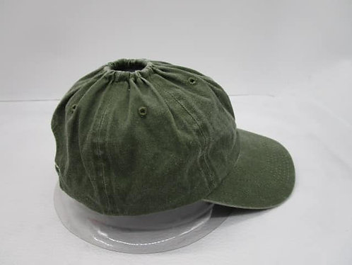 Army green  ponytail hat  baseball hat with a hole