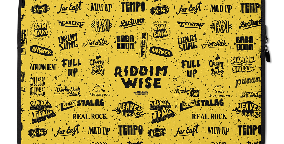 Rewind Guaranteed - Riddimwise - Laptop Sleeve