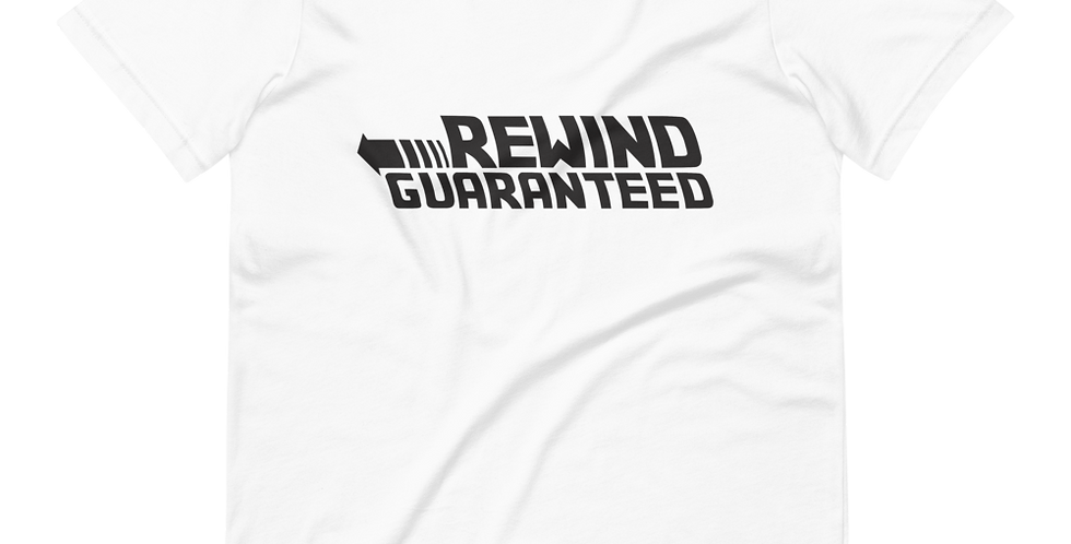Rewind Guaranteed - Black Logo - Tee