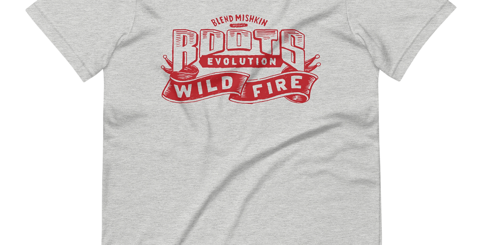 "Roots Evolution ""Wildfire"" T-Shirt - Red"