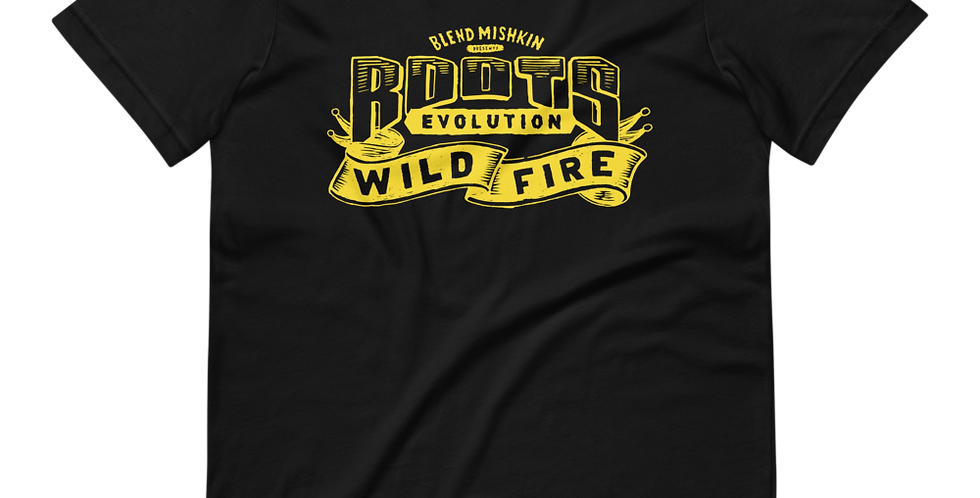 """Roots Evolution """"Wildfire"""" T-shirt - Yellow"""