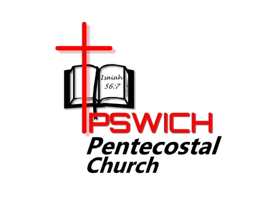 Ipswich Pentecostal church logo showing bible and ipswich with a cross meaning a church with word of God and Christ as an important highlight.A church in ipswich