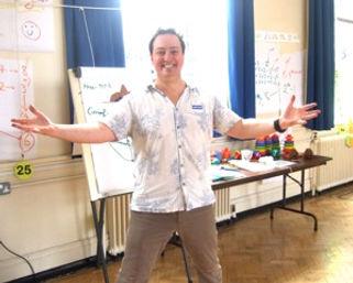 David Hall welcomes you to his Mathmagics show - inspiring maths show