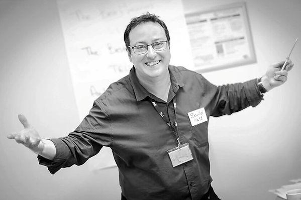 David Hall teaching Leadership Presence and Storytelling in Kiev 2018