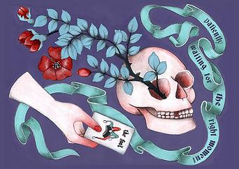 Victorian lowbrow art, new surrealism, occult art, dark surreal art, dark romantic illustration, victorian goth illustration, witch art, conceptual art, dark fairytale aesthetic, victorian witch, eclectic, sjull art, tarot card art, the fool, occult Victorian,