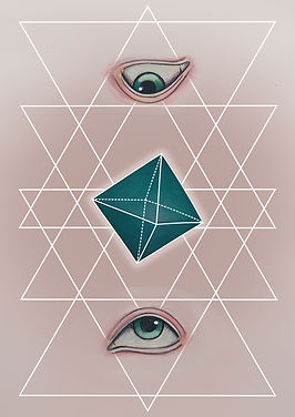 platonic solids octahedron, The Octahedron represents the element of Air.