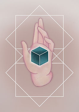 platonic solids Cube illustration,The platonic Cube represents the element of Earth.