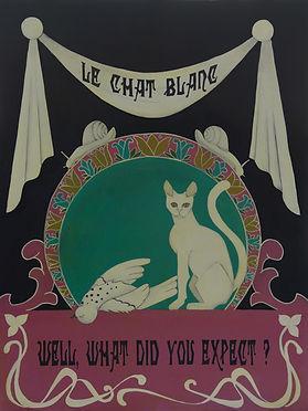 Victorian lowbrow art, new surrealism, occult art, dark surreal art, dark romantic illustration, victorian goth illustration, witch art, conceptual art, dark fairytale aesthetic, victorian witch, eclectic, occult victorian, memento mori, white goth cat, dead bird, victorian macabre art, macabre ironic quote art