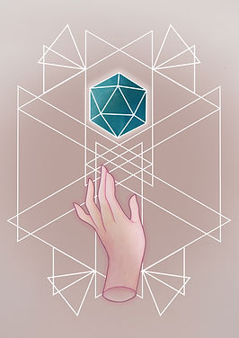 platonic solids icosahedron, The Icosahedron represents the element of Water.