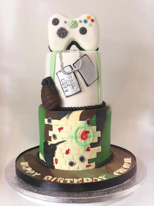 Call of Duty Kids Party Cake