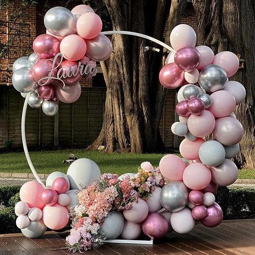 Balloon Hoop with Fresh Flowers