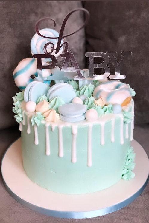"""""""Oh Baby"""" Drip Cake"""