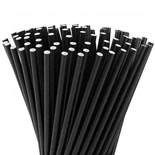 Biodegradable Black Rice Straws x 100