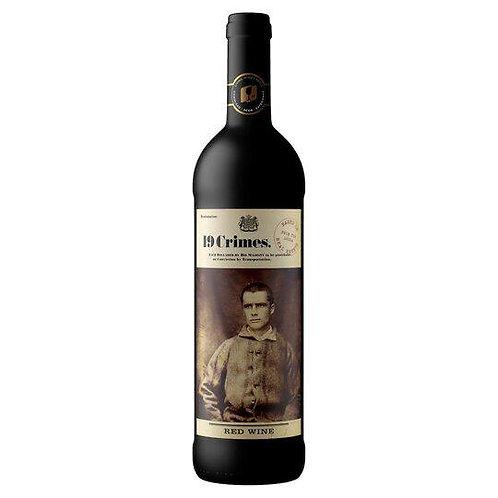 6 x 70ml 19 Crimes Red Wine