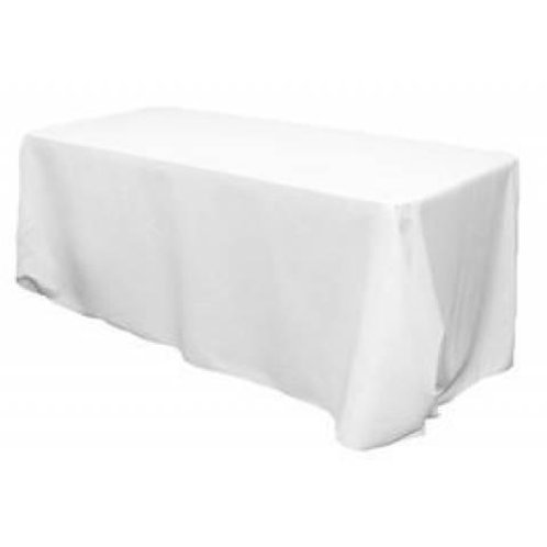 108 x 70 Ins White Rectangle Table Cloth
