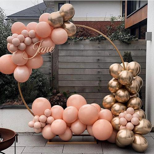 Rose Gold Balloon Hoop