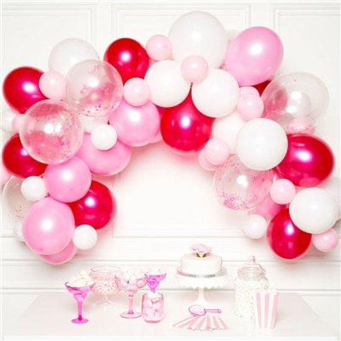 Pink & White Arch