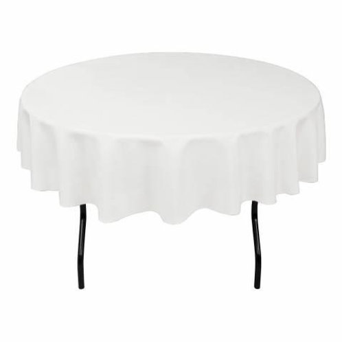 110 Ins White Round Table Cloth