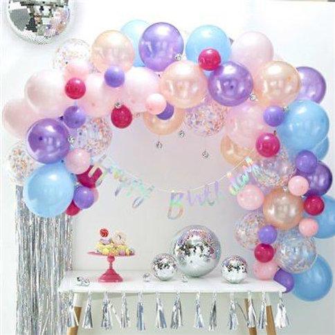 Pastel Half Arch Balloons