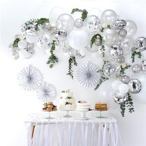 White & Silver Cloud Balloons