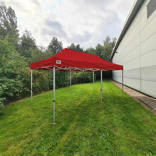 6x3m Red Gazebo