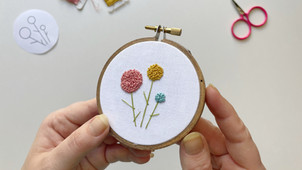 French knot cluster flowers