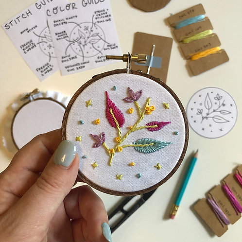 Three Leaves Embroidery Kit