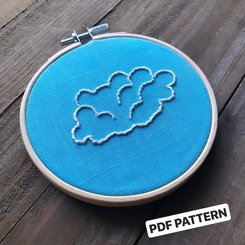 Cloud Embroidery Pattern