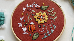 Creating the floral sampler hoop for the September 2021 Hopebroidery Box