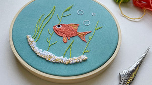 Creating the fish hoop for the June 2021 Hopebroidery Box