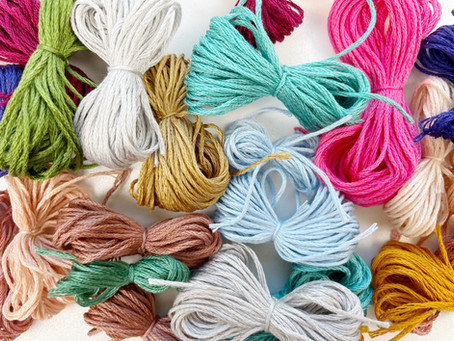 How to separate strands of embroidery floss