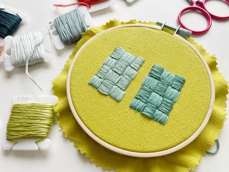 Basket filling stitch