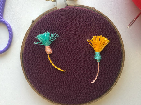 How to stitch a thistle flower