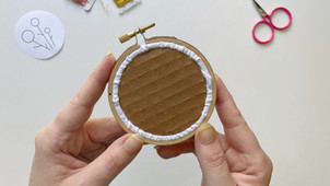 How to finish an embroidery hoop with cardboard