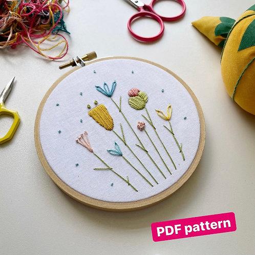 Floral sampler (embroidery pattern)