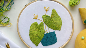 Creating the elephant ears hoop for the August 2021 Hopebroidery Box
