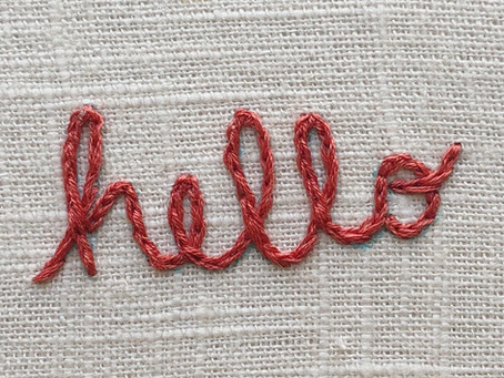 How to turn hand lettering into hand embroidery