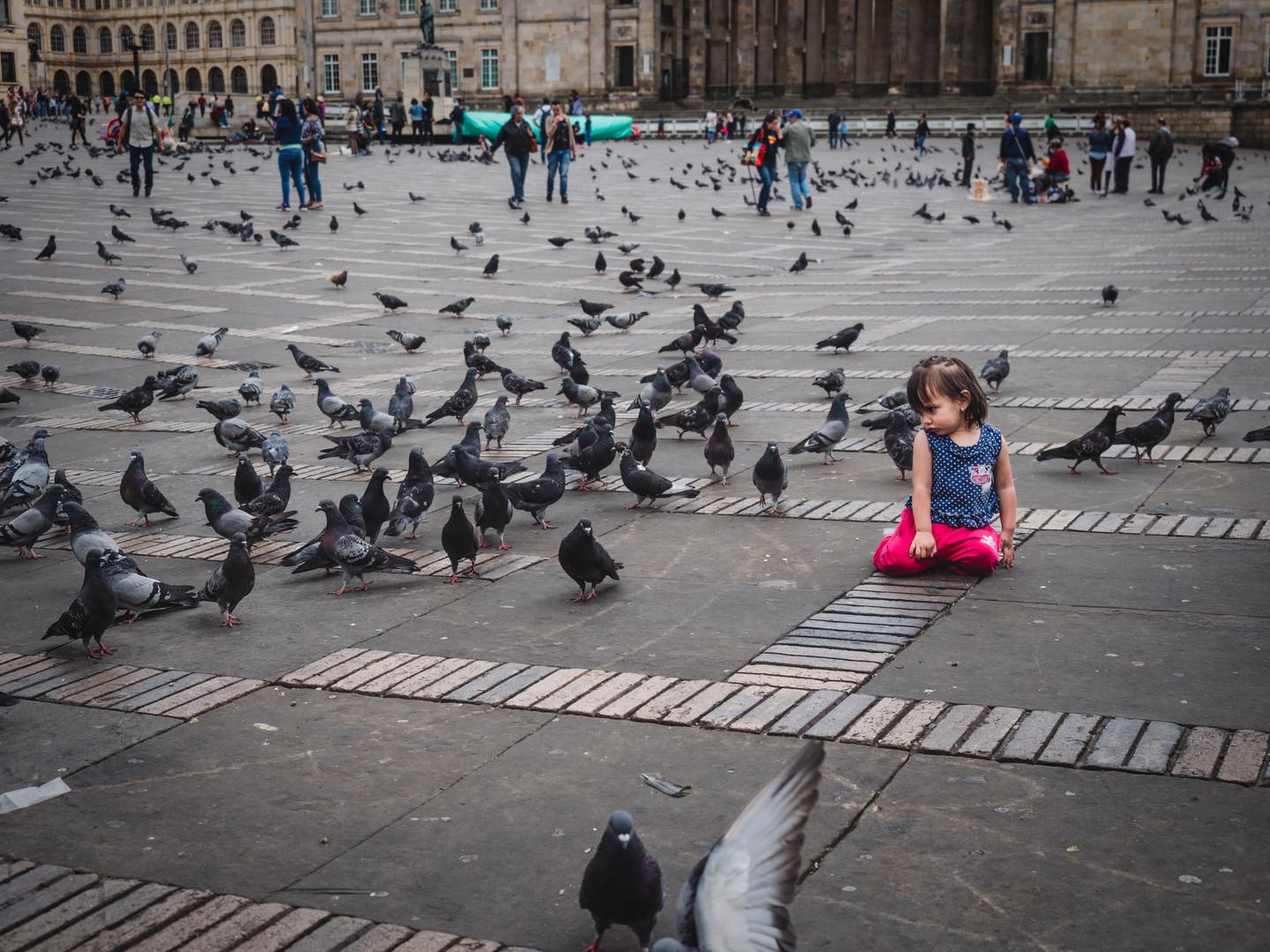 Girl with Pidgeons