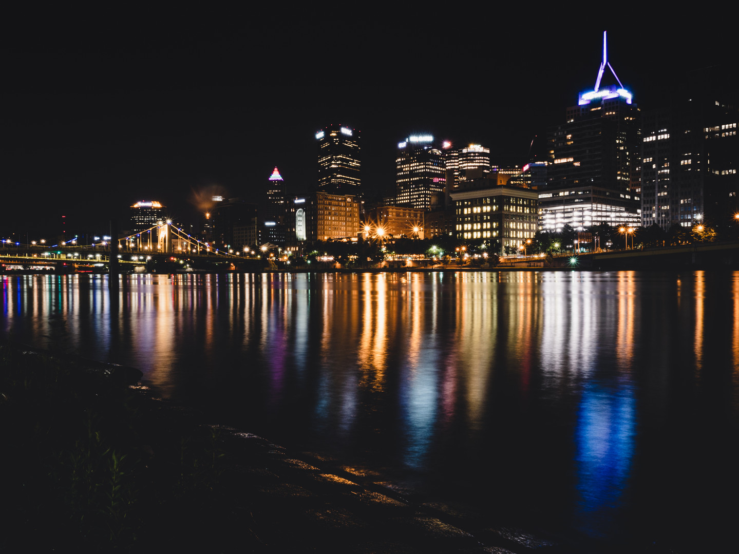 The Riverbank At Night