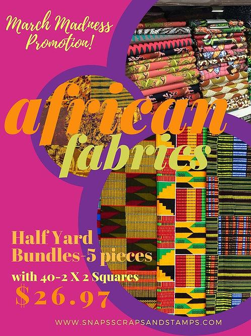 Half Yard Bundles (5 Pieces) & 40-2 X 2 Squares
