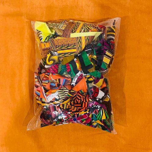 African Fabric Scrap Bag