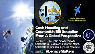 Cash Handling & Counterfeit Bill Detecti