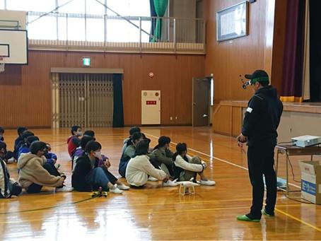 ドローンプログラミング授業(岡山市立豊小学校)