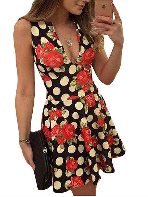 Vestido Floral Decote FG 4263