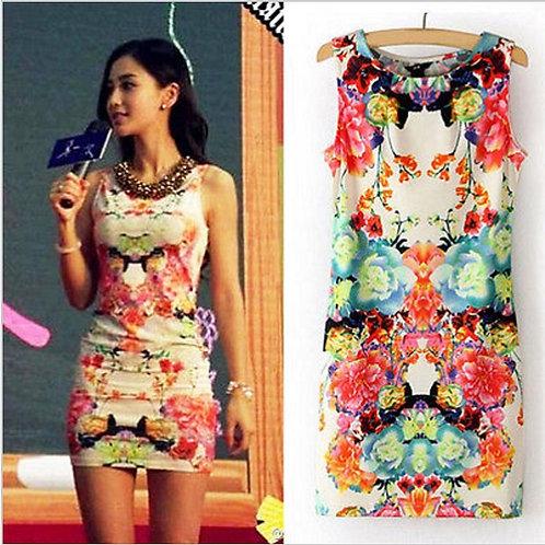 Vestido Curto Sensual Floral  FG1680