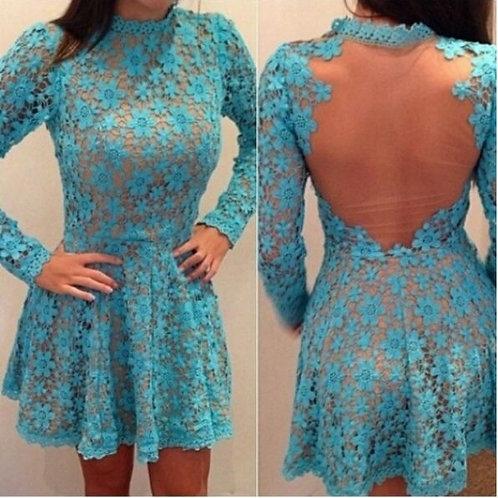 Vestido Renda Floral - FG 1077