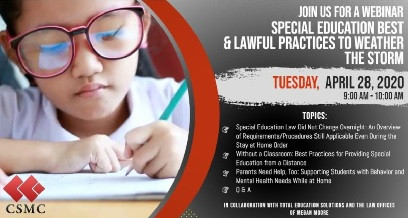 SPECIAL EDUCATION BEST & LAWFUL PRACTICES TO WEATHER THE STORM