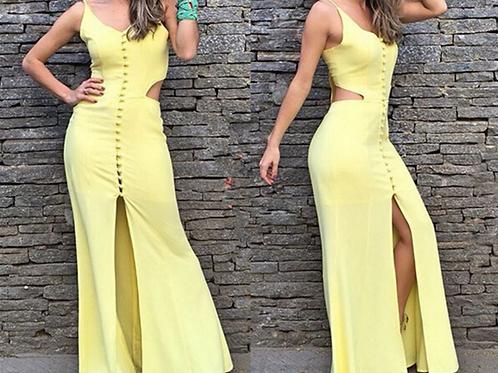 Vestido Longo Yellow Deusa FG 1579