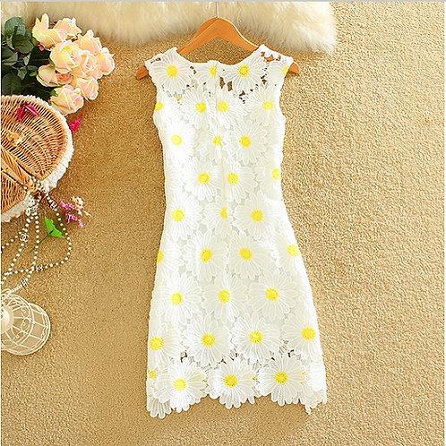 Vestido Fino Luxo Crochet Lisa FG 1679