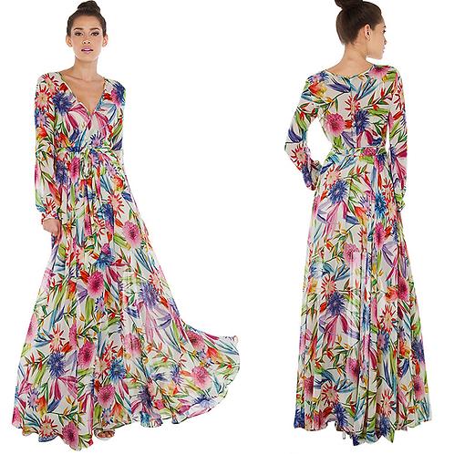 Vestido Longo Floral Jane FG 1963